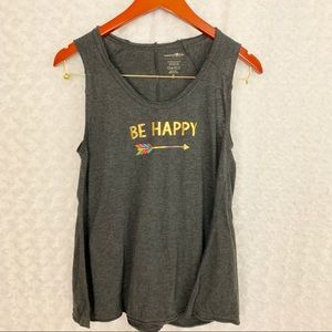 "Natural Life ""Be Happy"" Tank Top"